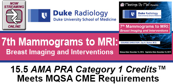 7th Mammograms to MRI: Breast Imaging and Interventions